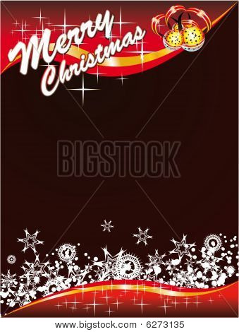 Christmas Card With Space For Text with High Contrast Colours