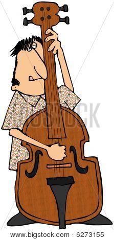 Bass Fiddle-Spieler