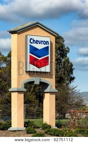 Chevron Gas Station Sign