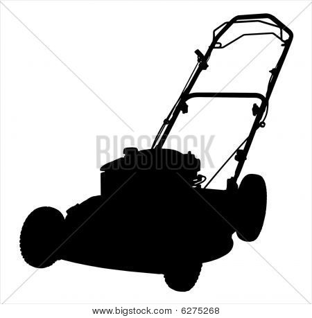 Lawnmower Silhouette Illustration