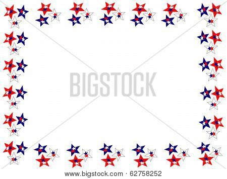 star red white blue boarder