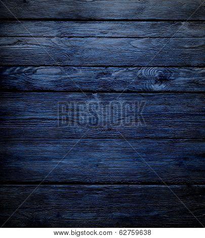 Dark blue vintage wooden background