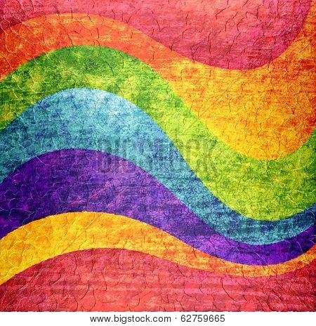 Wavy rainbow texture background