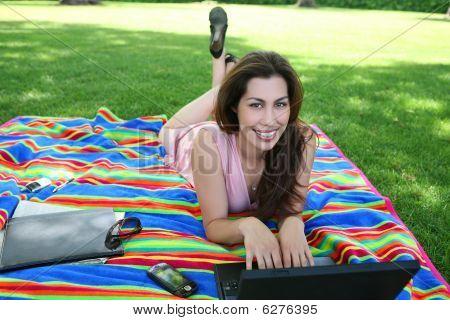 Pretty Woman In Park