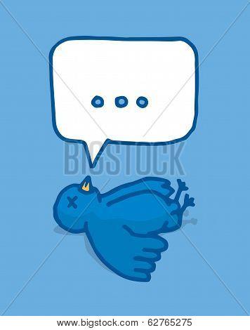 Social Media Bird Lying Dead