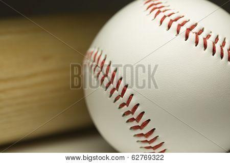 Brand new baseball and bat
