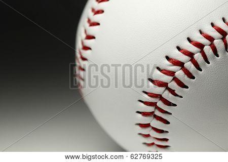Brand new baseball close up