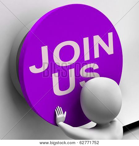 Join Us Button Means Register Volunteer Or Sign Up