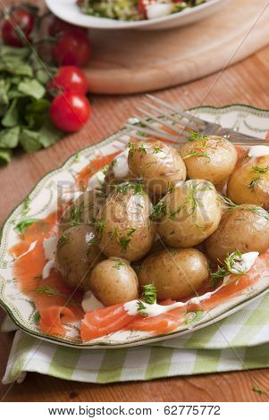 Smoked Salmon With Potatoes