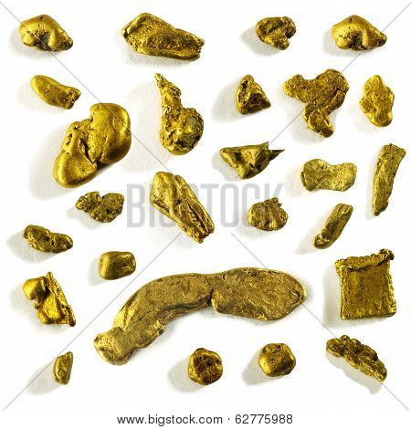 Collection Of Alluvial Gold Nuggets