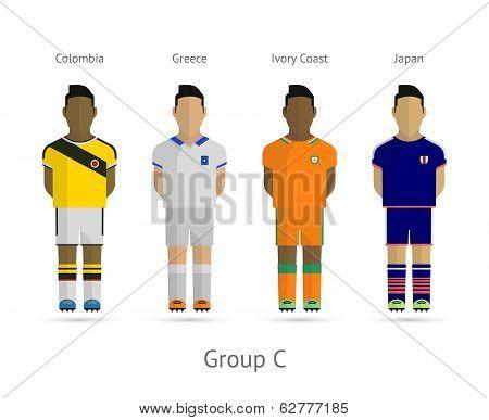 Football teams. Group C