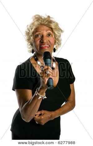 Beautiful African-american Singer