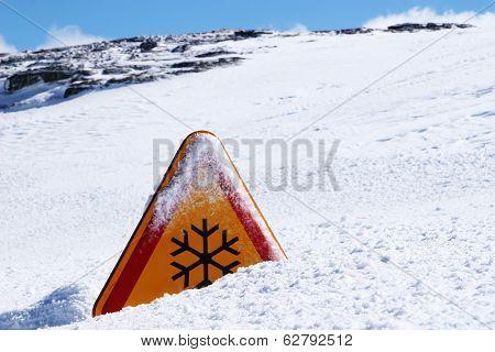 Snow Danger Sign
