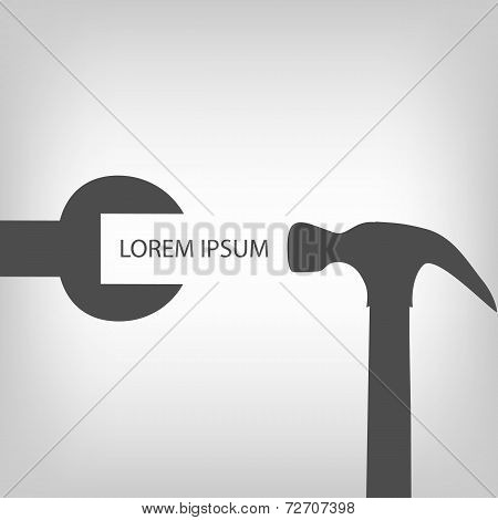 Spanner with hammer