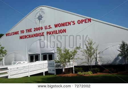 Tent At Entrance; Usga Women's Open Golf Tournament