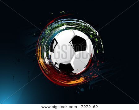 dirty abstract grunge background in the graffity style, football poster