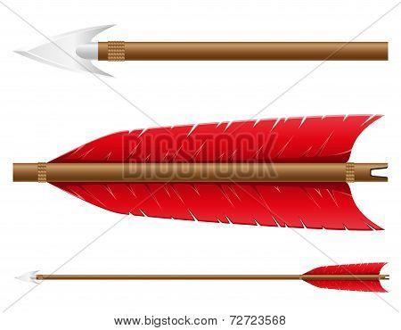 Arrow For Bow Vector Illustration