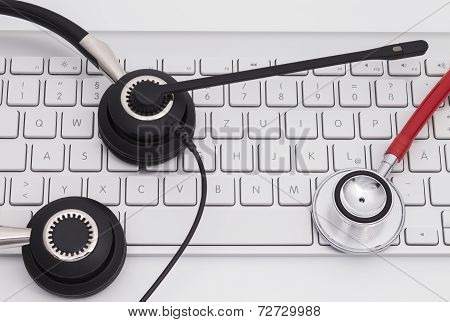 Headset with Keyboard and stethoscope