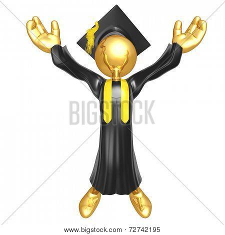 Gold Guy Graduation