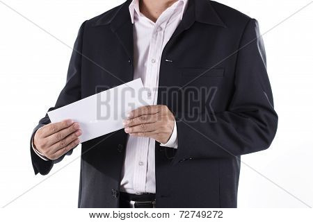 Businessman Shocked Received Layoff Notice