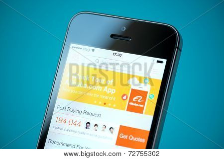 Alibaba Application On Apple Iphone 5S