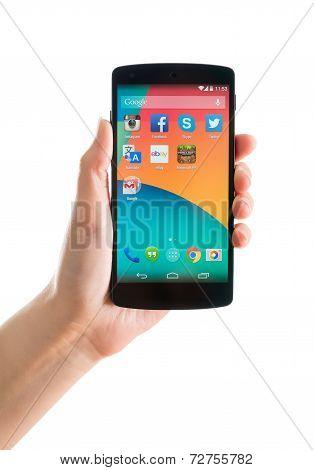 Google Nexus 5 In Hand