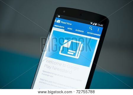 Google Play Newsstand On Google Nexus 5