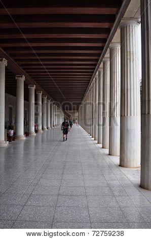 Stoa Of Attalos Covered Walkway