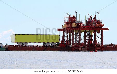 Great Building Site On The Seashore For The Construction Of A Dam