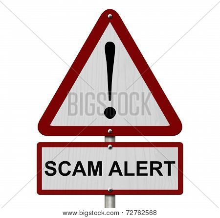 Scam Alert Caution Sign