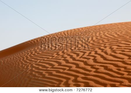 Desert Hill With Sand Waves