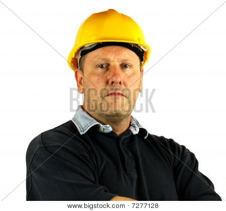Workman With Hard Hat