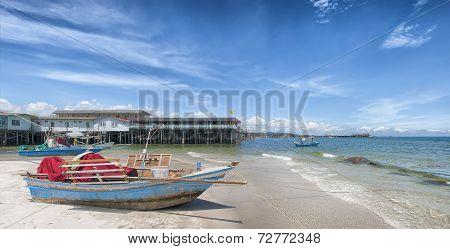 Hua Hin Beach Panorama