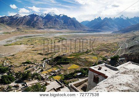 Karsha Gompa - Buddhist Monastery In Zanskar Valley