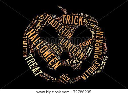 Jack O Lantern Word Cloud