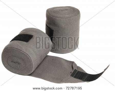 horse grey knitwear bandages isolated on white poster