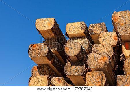 Wooden balks