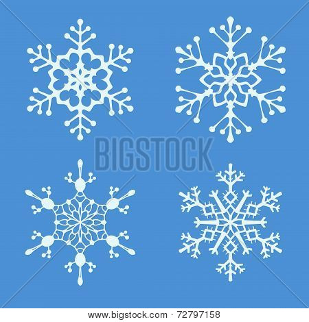 Christmas vector illustration - beautiful winter snowflake on a