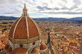 The famous dome of Brunelleschi is the coverage of the cruise of the Duomo of Florence; was the largest dome in the world and remains the largest masonry dome ever built. poster
