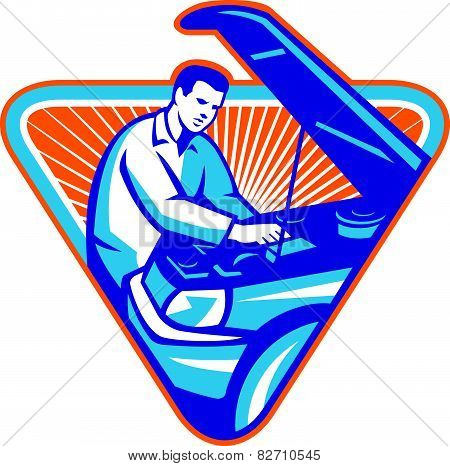 Automobile Mechanic Repair Car Retro