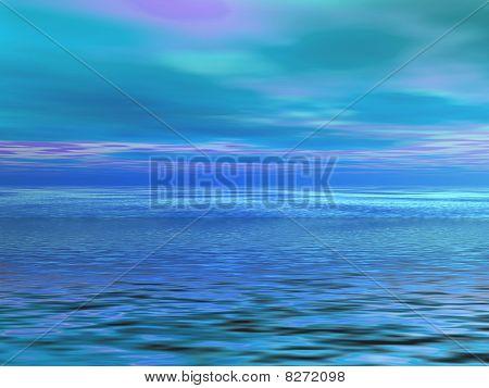 Ocean with blue sky