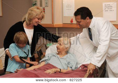 nursing home visit with doctor