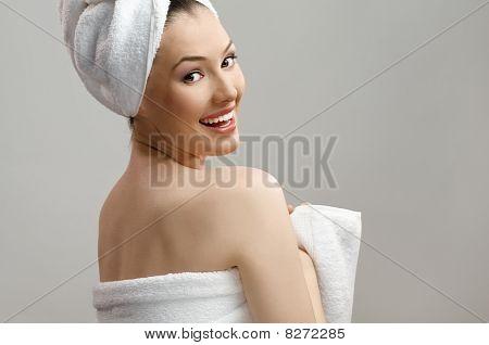 Woman With Bathtowel