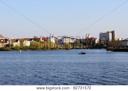 Nyamiha beautiful historical district of the city of Belarus In Minsk