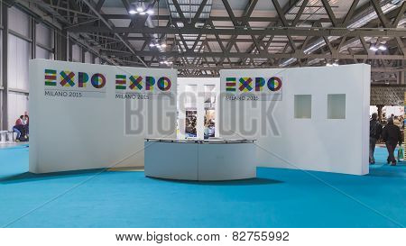 Empty Expo Stand At Bit 2015, International Tourism Exchange In Milan, Italy
