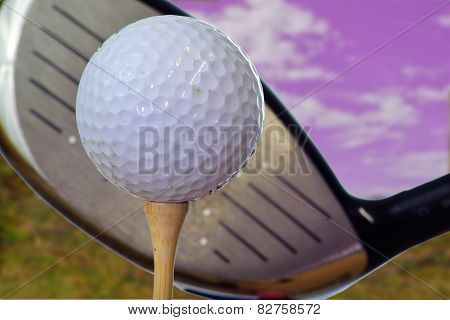 Driving ball off the tee