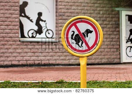 Sign Dog Walking Is Prohibited