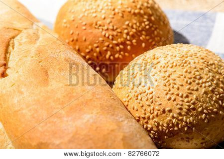 Image of bread loaf and buns