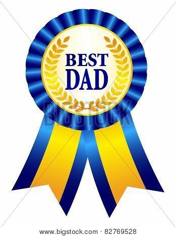 Best Dad Ribbon Rosette