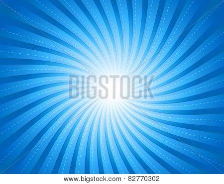 Cool Blue Retro Burst Background